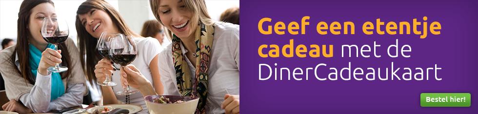 Geef een etentje cadeau met de DinerCadeaukaart