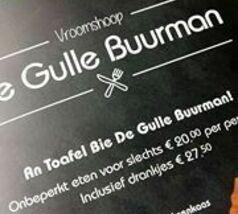 Nationale Diner Cadeaukaart Vroomshoop De Gulle Buurman Vroomshoop